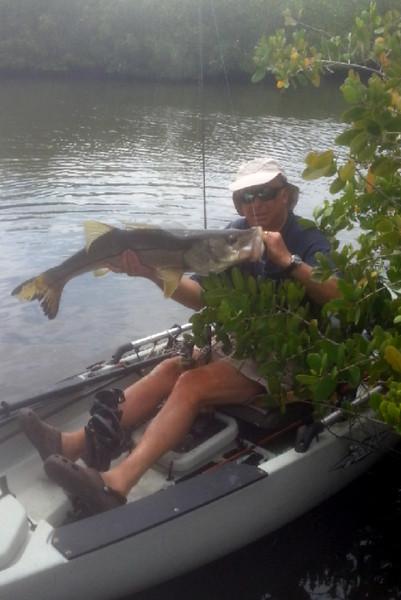 Steve Snipper with a big FL snook...
