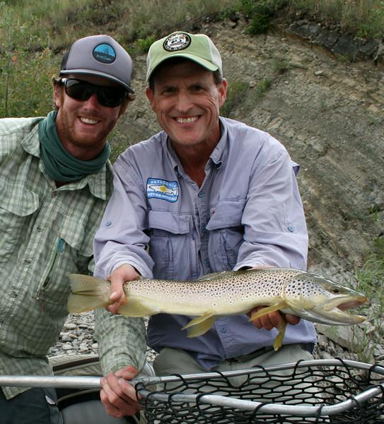 Paul and Ralph McDevitt with a nice dry fly fish.  Photo: Grace McDevitt