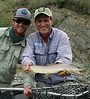 Paul and Ralph McDevitt with a nice dry fly fish.  Photo: Grace McDevitt