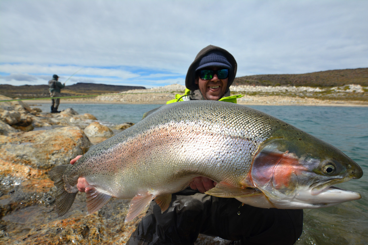 James, thrilled he finally caught something!  Photo: Hank Bechard