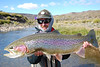 Josh Edwards with one of the prettiest rainbows ever... Photo: Kyle Travis