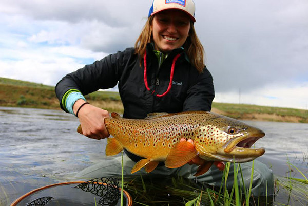 Alaina Donovan with a beautiful brown, just under 2 feet! Photo: John Michunovich