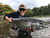 Benn Busalacchi with a fat King from the Salmon River, NY