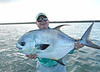 George with a nice permit from the Bahamas.  Photo: Sir Nick