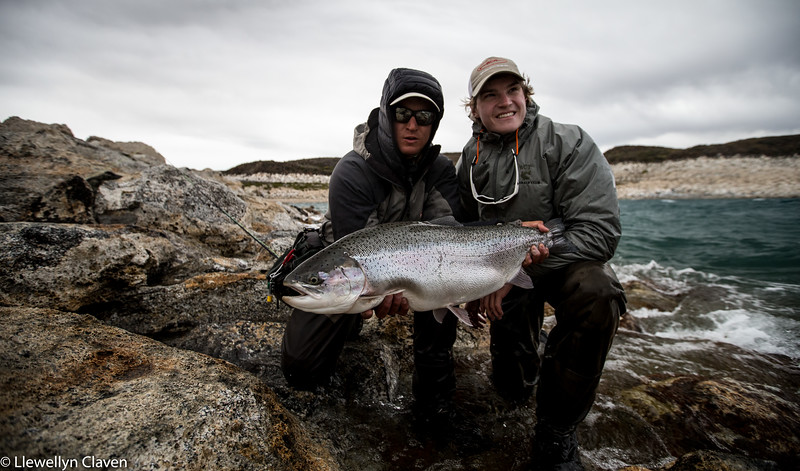 Santiago and Harrison with a big chrome hen from the Bay of Pigs.  Photo: Llew Claven