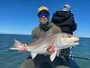 Mischa Rosenthal with a Louisiana redfish! Photo: Capt. Greg Moon