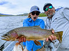 Kirstin Strader and Chris Pease with a Mega YR cutthroat! Photo: Danielle Pease