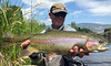 Eric Paulson with a Paradise Valley Spring Creek rainbow.