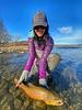 Lauren Peschka with a fat Big Horn brown.  Photo: Chris Coyne