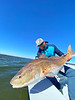 Capt. Coy with another big redfish.  Photo:  Steven Winkels
