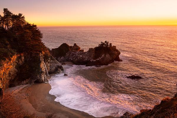 McWay Falls Sunset - Big Sur
