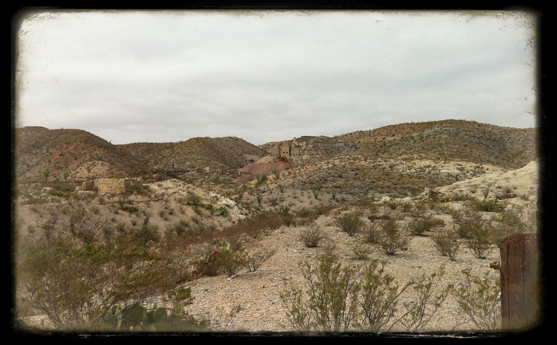 In the Chihuahuan Desert at Big Bend NP. Mariscal Mine at center.