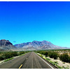 East of the Chisos Mountains.