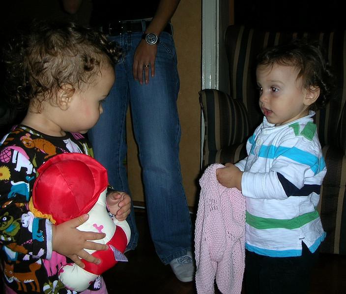 Kankam Ege ve Fatsi teyze bizdeydi. 08/10/2008.