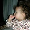 Gecen gun minibuste yaramazlik yaparken alnımı koltugun altindaki raylara carptim, izler ordan kalma. Baby TV seyredisteki ciddiyete bir de at kuyruguma dikkatinizi cekerim.