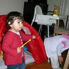 Bu yeni arkadasim Naz, Elif teyzenin ve Ferdinando amcanin kizlari. 25/02/2009.