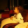 Aksam yatmadan once TV de Barney seyrediyorum.