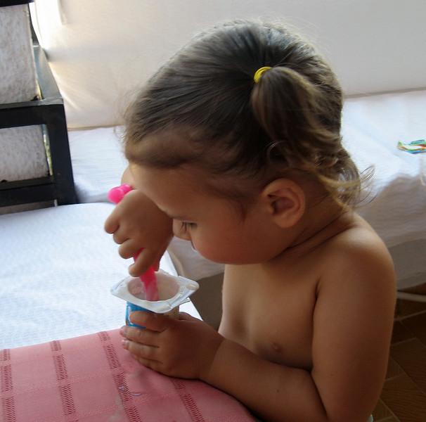 Bu meyveli yogurdun icine ne koyuyorlarsa artik hep bundan yemek istiyorum. 11/08/2009