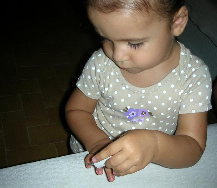 Annanem den oje surme konusunda uygulamali ders aliyorum ve bu olayi cok ciddiye aliyorum . 19/08/2009