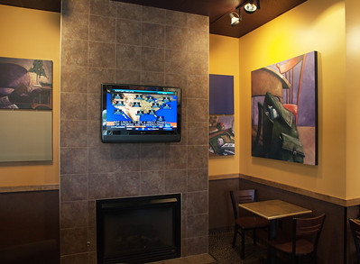 Keep updated via the TV and also wireless internet service at Biggby Coffee, Defiance, Ohio.