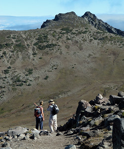 Megan and Shannon looking at the Mt. Fremont Lookout Trail.