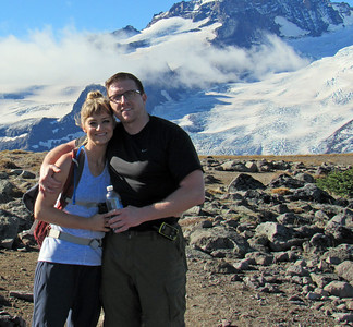 Megan and Dave on the First Burroughs Mountain. Taken by Shannon Campbell.