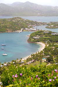 Antigua, Caribbean Islands, English Harbour View With Yachts