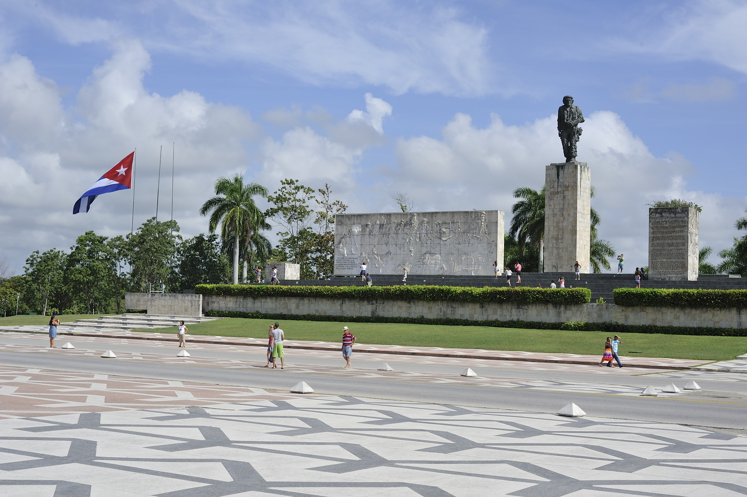 The Che Mausoleum and Monument in Santa Clara Cuba is a popular tourist attraction.