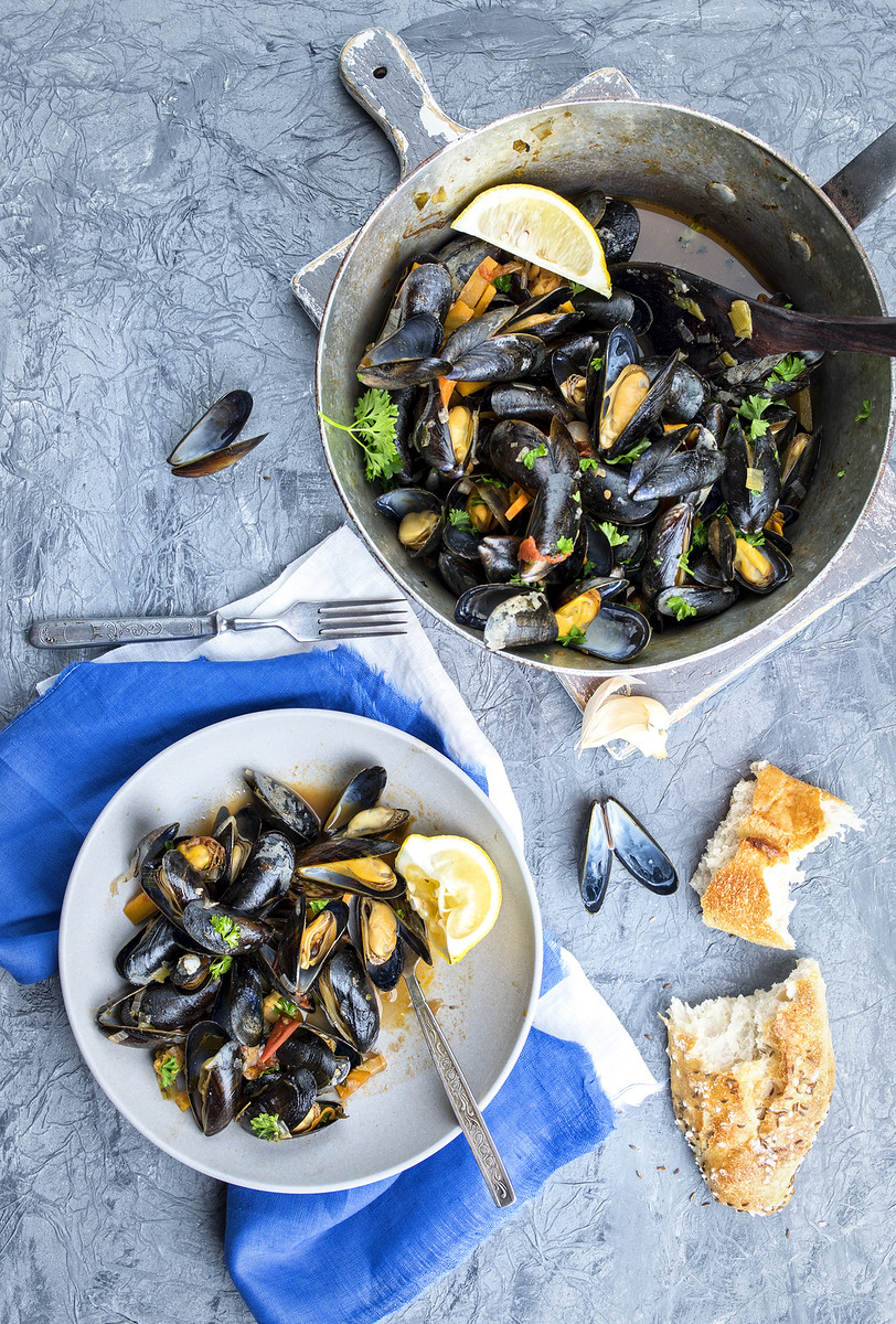 Moules Marinière also known as sailor mussels. Discover what to eat in Marseille, the oldest city in France with culinary influences from Italy, Spain and North Africa.