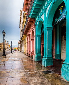 Havana Cuba. January 2018. A View Of Colourful Aged Architecture In Havana In Cuba