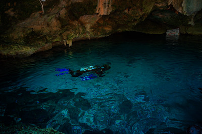 Cenote Dos Ojos With Clear Blue Water