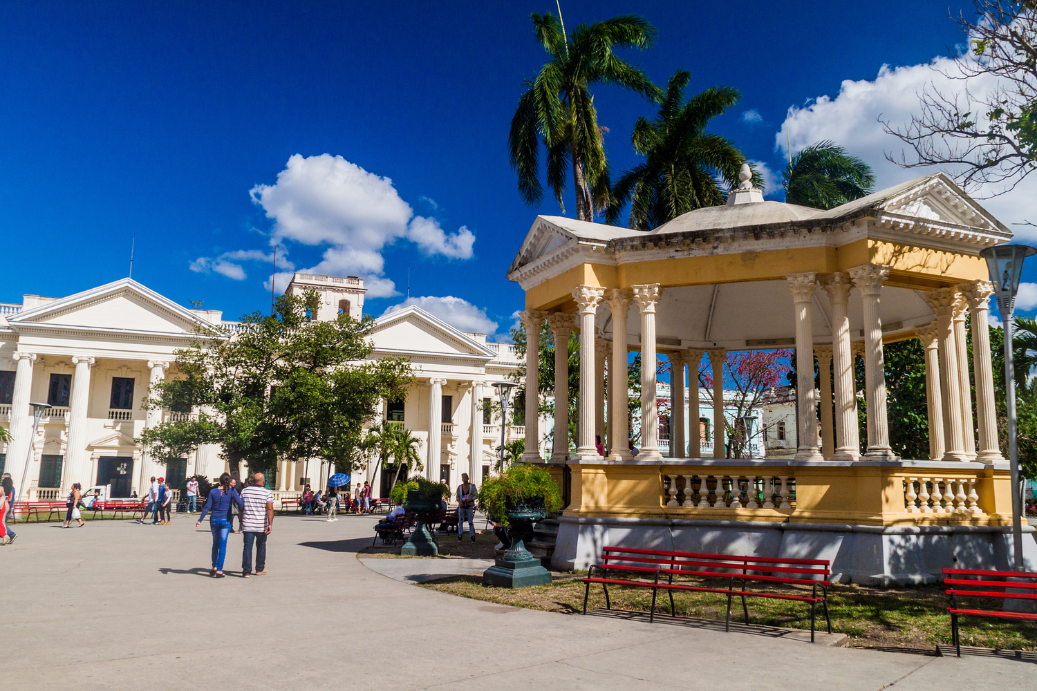 Parque Vidal in Santa Clara Cuba is the central hub in this Cuban city.