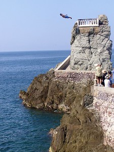 Cliff divers in Mazatlan, Mexico