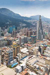 Bogota,  Colombia  March 18 Bogota Aerial View On La Candelaria  District Located In The Historic Ce
