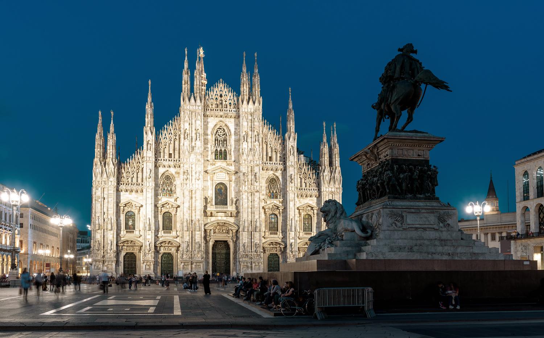 Milan Italy Duomo at night