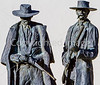 Wyatt Earp & Doc Holliday statue at train station in Tucson, AZ - C1 -0023 - 72 ppi