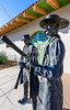 Wyatt Earp & Doc Holliday statue at train station in Tucson, AZ - C2-0064 - 72 ppi