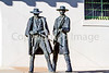 Wyatt Earp & Doc Holliday statue at train station in Tucson, AZ - C1 -0025 - 72 ppi
