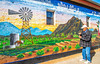 New Mexico - Muralist Eddie Tsosie at Bear Mountain Coffeehouse in Magdelena - D7-C2-0002 - 72 ppi