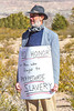 New Mexico - Protester at ceremony unveiling monument to Texas Confederates in Socorro cemetery - 2-24-12-C1  -0035 - 72 ppi