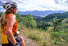 Cyclist at Ute Pass on Great Divide Trail near Silverthorne, Colorado - 9 - 72 ppi