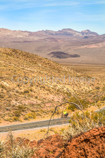 Cyclist near Salsbury Pass in Death Valley National Park, California - D5-C3-0119 - 72 ppi