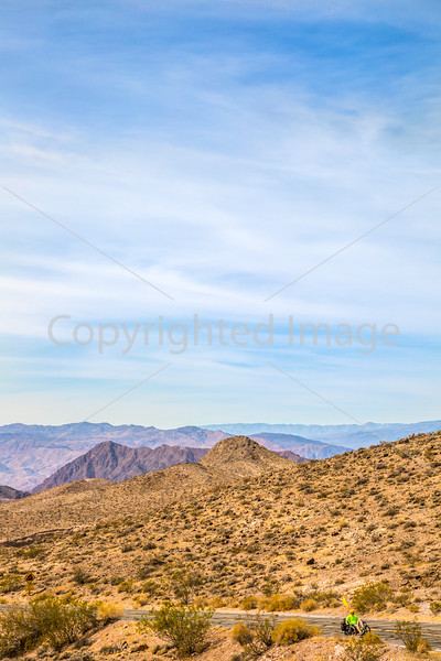 Cyclist near Salsbury Pass in Death Valley National Park, California - D5-C3-0041 - 72 ppi