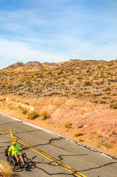 Cyclist near Salsbury Pass in Death Valley National Park, California - D5-C3-0056 - 72 ppi-2
