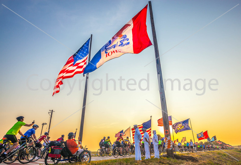 Ragbrai 2014 - Leaving Rock Valley, Iowa, in early morning - D1-C2-0493 - 72 ppi