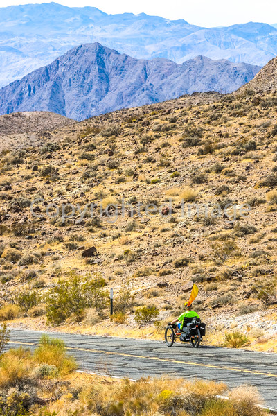Cyclist near Salsbury Pass in Death Valley National Park, California - D5-C1-0099 - 72 ppi