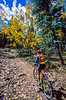 Mountain biker on trail near Lake City in Colorado's San Juan Mountains - 4 - 72 ppi