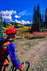 Mountain biker on trail near Lake City in Colorado's San Juan Mountains - 1 - 72 ppi