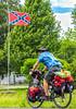 TransAmerica Trail cyclist near Civil War battle site at Pilot Knob, Missouri - C3-0123 - 72 ppi-2