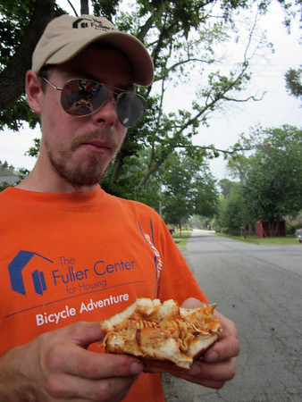 2010 07-10  Anything taste good after riding 70 miles a day...even left-overs from the day before. ky